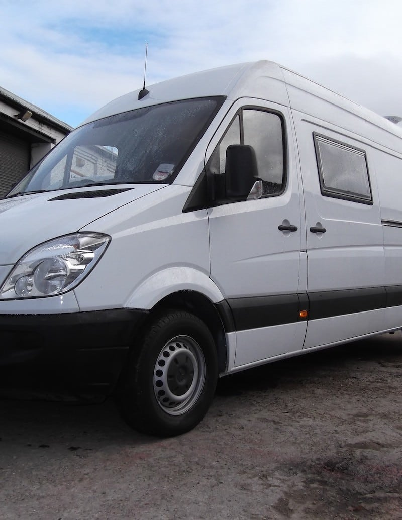 Front view of Mercedes Sprinter